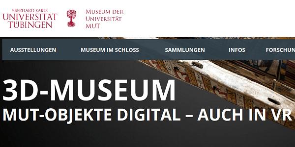 3D-Museum - Museum der Uni Tübingen stellt Exponate als 3D-Modelle zur Verfügung