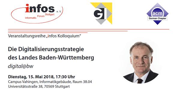digital@bw - Die Digitalisierungsstrategie des Landes Baden-Württemberg - Vortrag an der Uni Stuttgart
