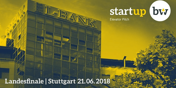 Start-up BW Elevator Pitch 17/18 - Landesfinale am 21.6.2018 in Stuttgart