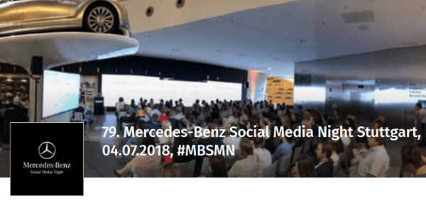 79. Mercedes-Benz Social Media Night (MBSMN 79) am 4. Juli 2018