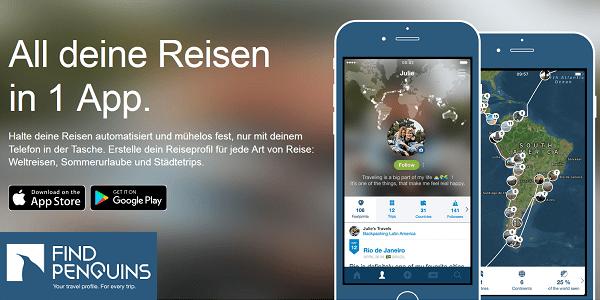 FindPenguins - Reise-Plattform jetzt mit automatischem Tracking