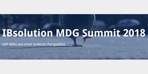 MDG Summit 2018 am 20.9. in Heilbronn: Praxisvorträge zum Thema Master Data Management