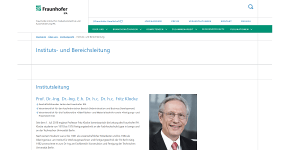 Prof. Dr. Klocke verstärkt die Institutsleitung des Fraunhofer IPA