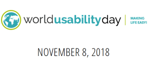 World Usability Day 2018 am 8.11.
