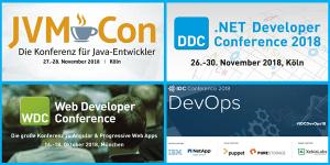 Events zu Java/JVM, .NET, Web-Entwicklung und DevOps