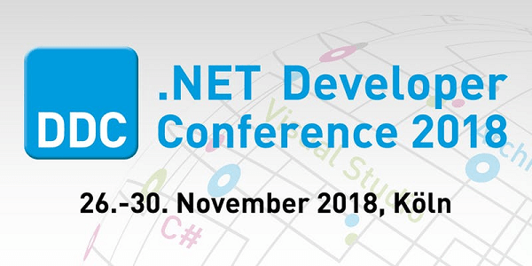 .NET Developer Conference 2018 (DDC 2018) Ende November in Köln (Sonderkonditionen)