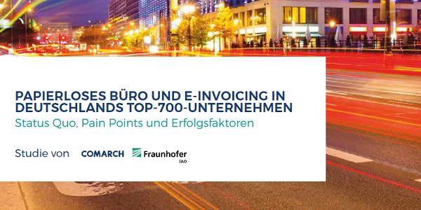 E-Invoicing: Kostenlose Studie von Fraunhofer IAO und Comarch zur elektronischen Rechnung
