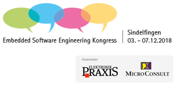 Embedded Software Engineering Kongress 2018 vom 3.-7.12. in Sindelfingen (ESE Kongress 2018)