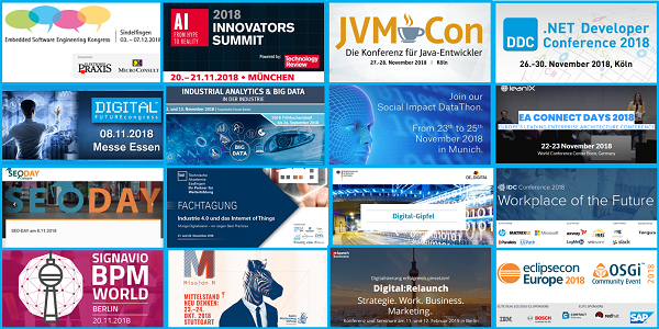 Embedded, AI/KI, Java, .NET, Digitalisierung, Big Data, EAM - Top-Events, tlw. mit Rabatt