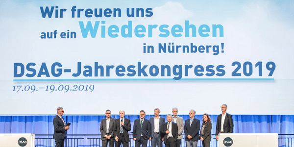 DSAG-Jahreskongress 2019 vom 17.9. bis 19.9. in Nürnberg (Save-the-Date)