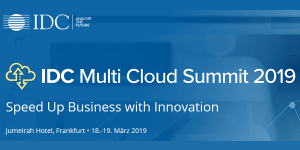 IDC Multi Cloud Summit 2019 in Frankfurt