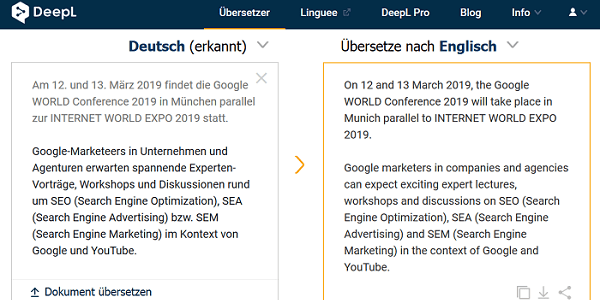 DeepL Übersetzer - Führendes Übersetzungstool aus Deutschland