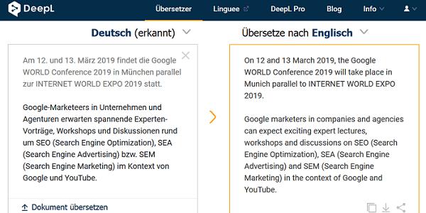 DeepL Übersetzer