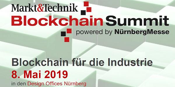 Blockchain Summit 2019 am 8.5. in Nürnberg - Blockchain für die Industrie