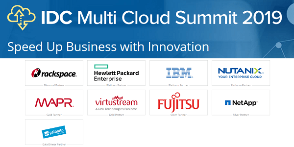 IDC Multi Cloud Summit 2019 am 18.+19.3. in Frankfurt - u.a. mit Rackspace, HPE, IBM und Nutanix