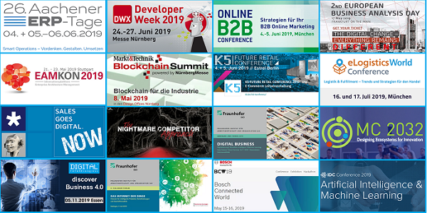 Digitalisierung, eCommerce, ERP, EAM, Blockchain uvm. - Top-Events (oft mit Sonderrabatten)