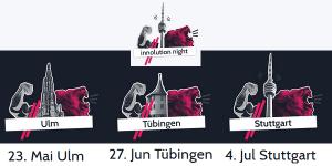 Innolution Night 2019 in Ulm, Tübingen und Stuttgart