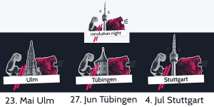 Innolution Night 2019 in Ulm, Tübingen und Stuttgart
