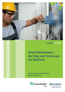 Smart Maintenance - neue acatech Studie