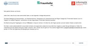 Online-Umfrage: IT- / Informatik-Standort Stuttgart