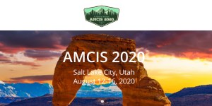 AMCIS 2020 in Salt Lake City, Utah
