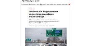 Tschechische Entwickler realisieren Online-Shop für Vignetten kostenlos (Screenshot: Zeit Online)