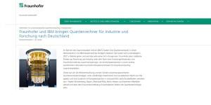 Quantum Computing - Fraunhofer kooperiert mit IBM