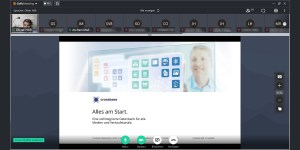 Cross-Media-Experte J. Muffler, COO von crossbase vortuell zu Gast an der HFT Stuttgart