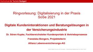 Gastvortrag Allianz an der HFT Stuttgart