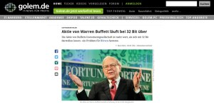 Aktie von Berkshire Hathaway sprengt 32-Bit-Systeme (Quelle: Golem.de)