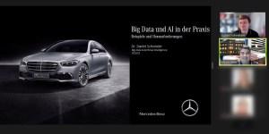 Gastvortrag von Dr. Schneider (Mercedes-Benz) zum Thema Big Data und AI