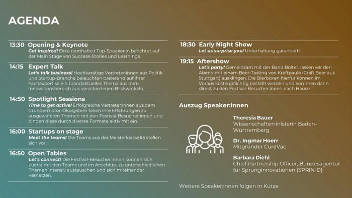 INNO FESTIVAL BW 2021 - Agenda