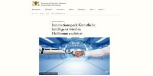 KI-Innovationspark wird in Heilbronn realisiert (Quelle: WM BW)