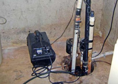 Pedestal sump pump system installed in a home in Maple Grove