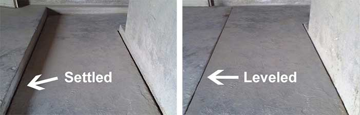 Concrete floor crack and settlement in MN, ND & MT