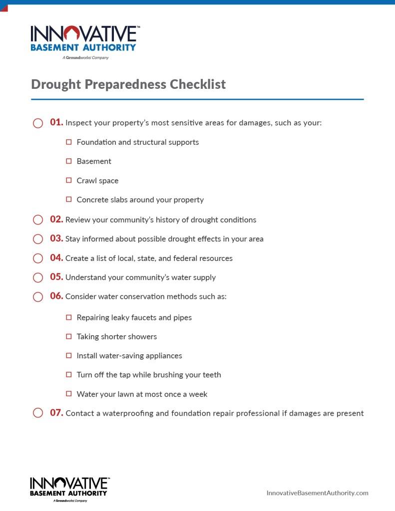 Drought Preparedness Checklist