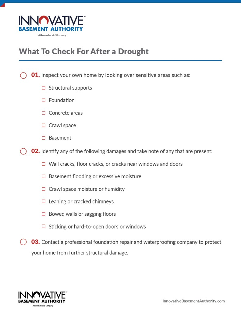 After a drought checklist