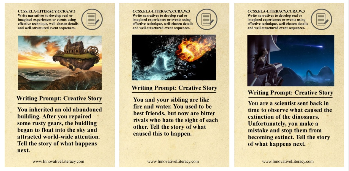 Innovative Literacy - Creative Education with Common Core Creative Writing Prompts
