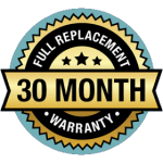 30 Month Warranty - Full replacement