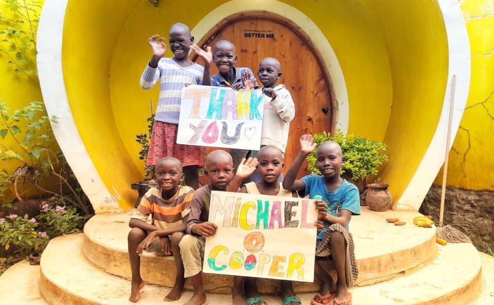 The kids at BetterMe Kenya sent a sweet thank you card