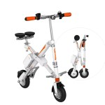 Vélo pliable suivant 2 dimensions et extrêmement compact.