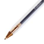 Le stylo BIC est muni d'une bille qui roule pour déposer l'encre sur le papier.