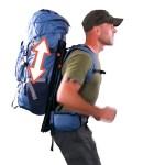 Le système de sac à dos HoverGlide est dynamique et se coordonne avec les mouvements du marcheur.