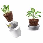Pot de fleur Rem'Pot en plusieurs parties permet de faciliter le dépotage et ne pas en mettre partout …