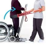 Ce système de ceinture ETAC est un objet intermédiaire facilitant la verticalisation du corps du patient.