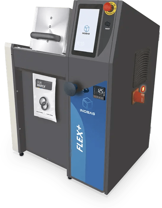 Seladora de embalagens Flex+ - seladora embalagens embaladora automatica Inopick código de barras automação Inobag