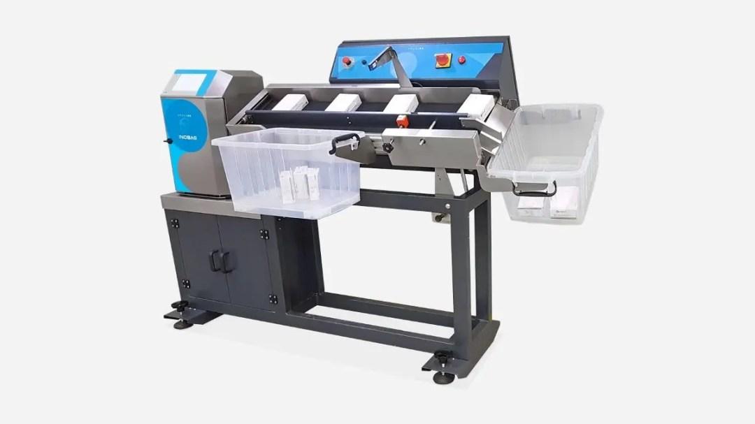 Máquinas - seladora embalagens embaladora automatica Inopick código de barras automação Inobag