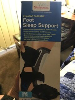 Boot used to help plantar fasciitis and Achilles tendon issues