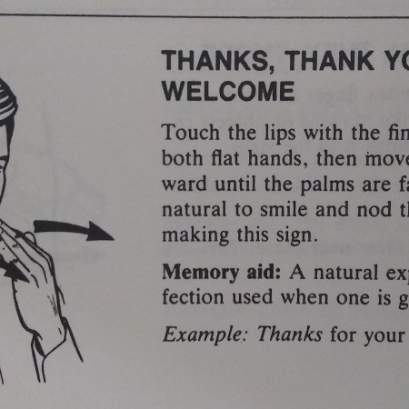 ASL for thank you, you're welcome. A basic term that is polite to know.