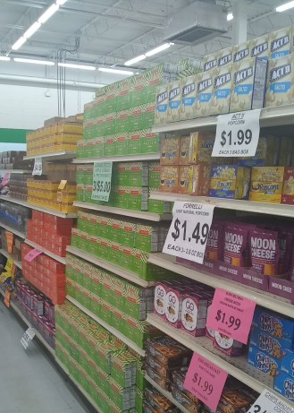 Snack deals at our discount grocery retailer